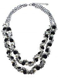 Statement Layered Artificial Pearl Ball Necklace -