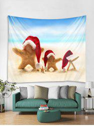 Christmas Beach Starfish Print Tapestry Wall Hanging Decoration -