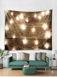 Wood Grain String Light Print Tapestry Wall Hanging Decoration -