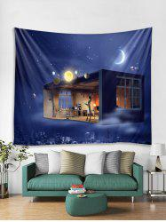 Universe Space House Print Tapestry Wall Hanging Decoration -