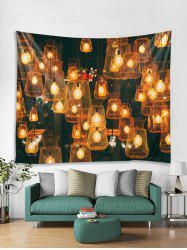 Christmas Light Print Tapestry Wall Hanging Decoration -