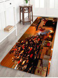Christmas Tree Star Gift Printed Non-slip Area Rug -
