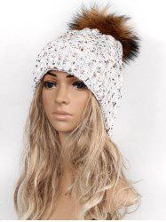 Outdoor Pom Ball Decorated Winter Knitted Beanie -