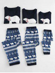 Polar Bear Printed Christmas Family Pajamas Sets -
