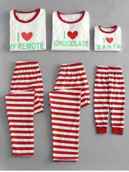 Letter and Striped Christmas Family Pajamas Sets -