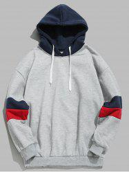 Casual Splicing Color Block Hoodie -