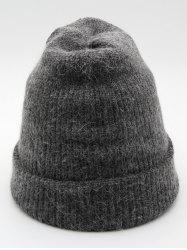 Vintage Solid Color Flanging Ski Beanie -