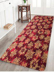 Christmas Snowflake Pattern Water Absorption Floor Rug -