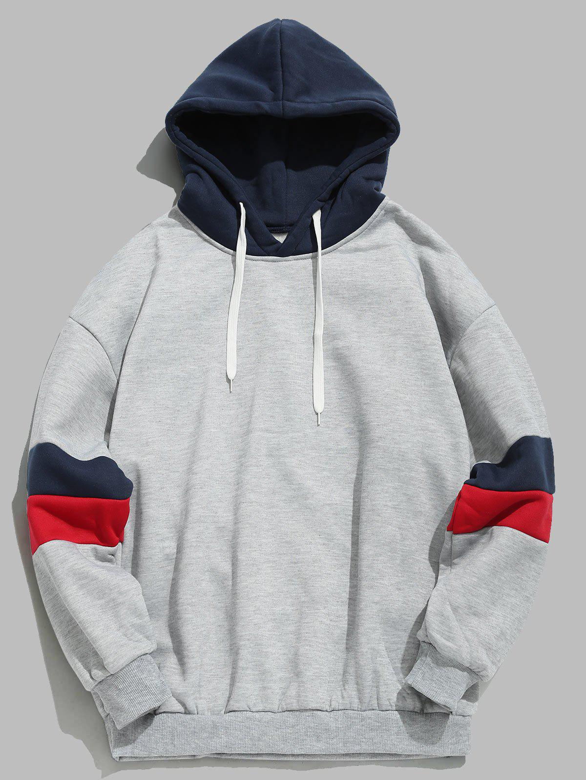 Buy Casual Splicing Color Block Hoodie