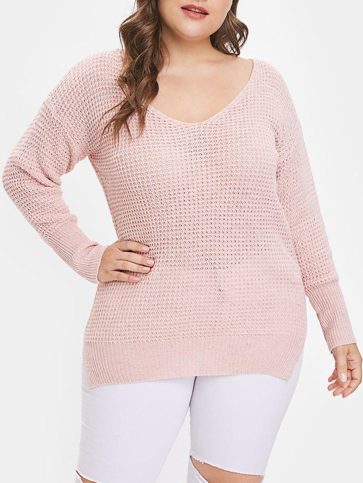 Trendy Plus Size Oversized Chunky Sweater