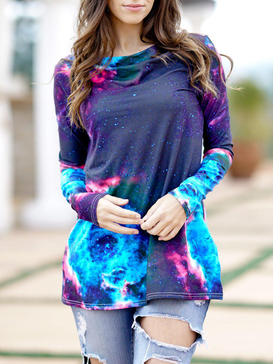 Shop Tie Dye Cowl Neck T Shirt