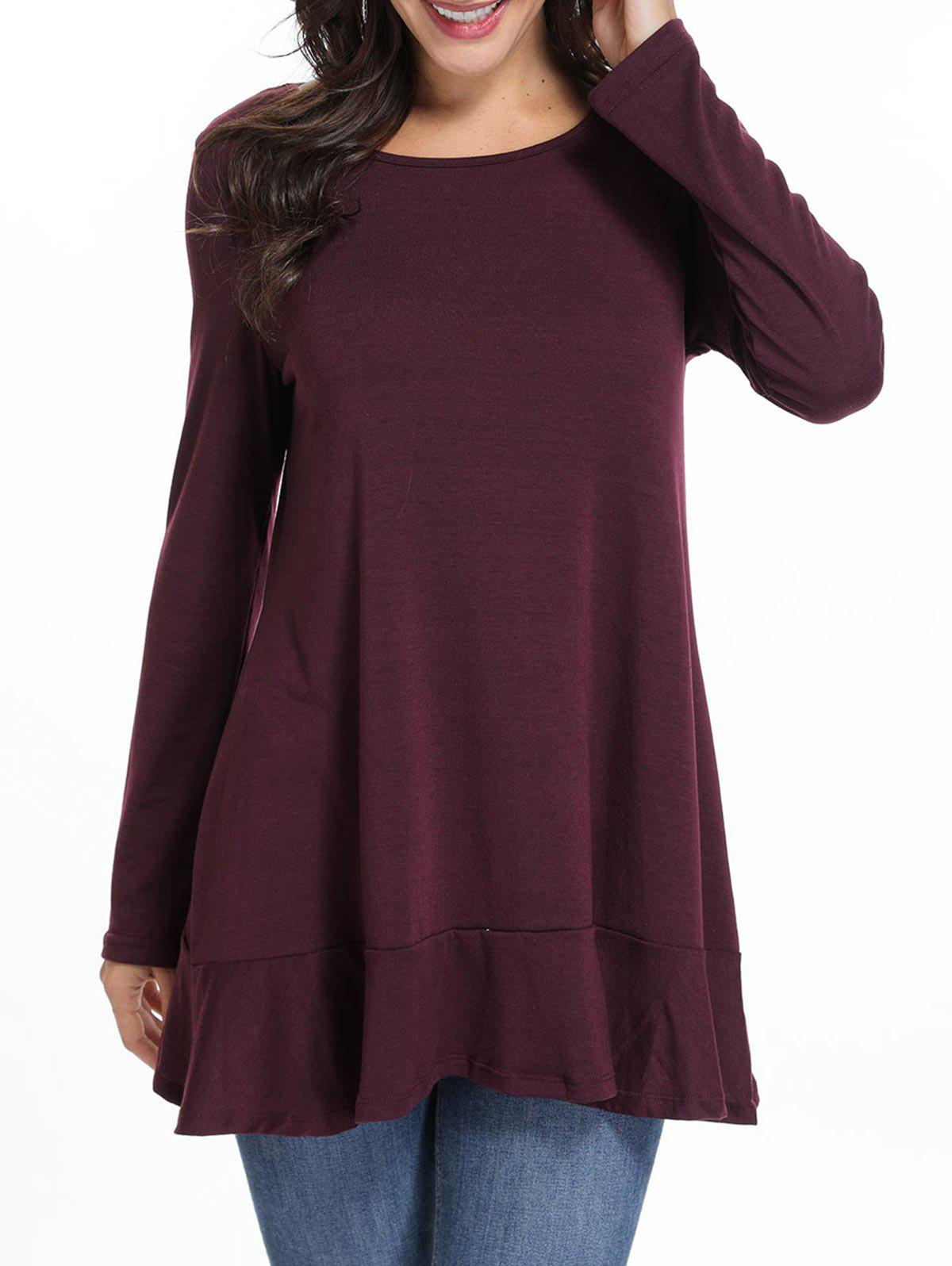 Affordable Lace Panel Tunic T Shirt