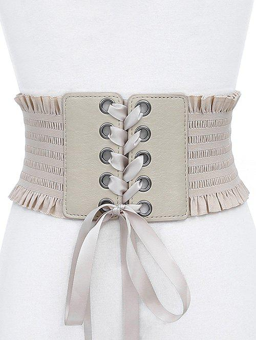 Buy Bowknot Fringed PU Leather Wide Belt
