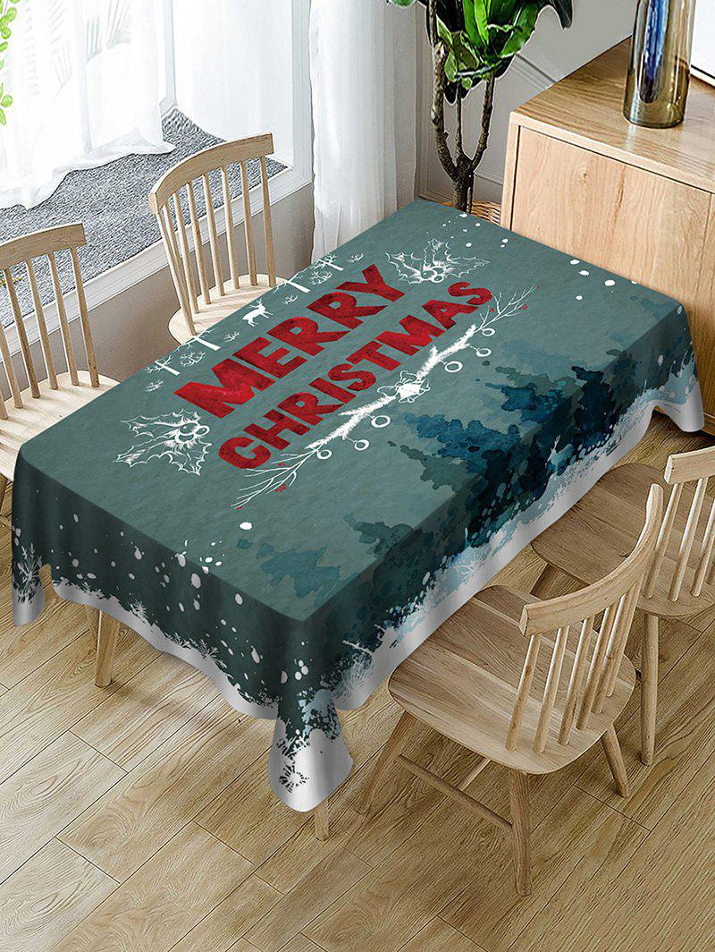 Outfit Merry Christmas Elk Fabric Waterproof Table Cloth