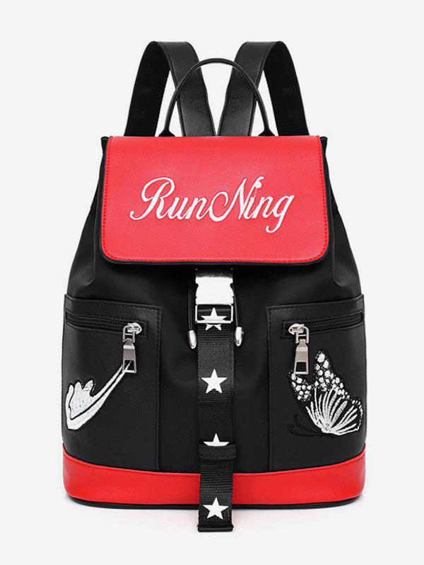 Affordable Star and Letter Pattern School Backpack