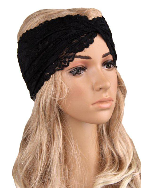 Fashion Overlap Hollow Out Lace Wide Headband