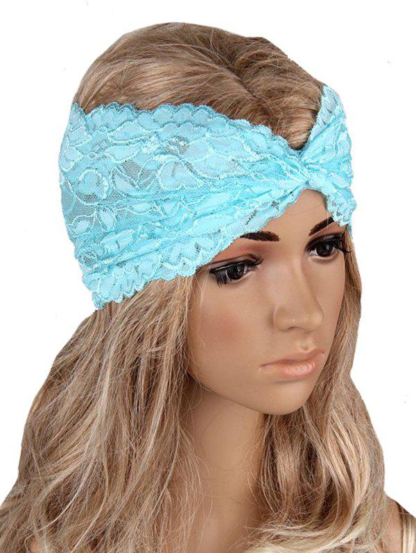 Hot Overlap Hollow Out Lace Wide Headband