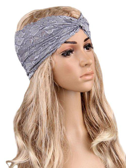 Fancy Overlap Hollow Out Lace Wide Headband