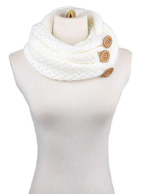 Buy Winter Button Knitted Warm Infinity Scarf