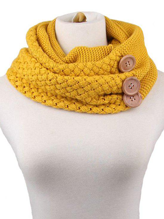 Trendy Winter Button Knitted Warm Infinity Scarf