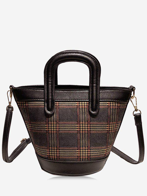 Latest Statement Plaid Printed Tote Bag
