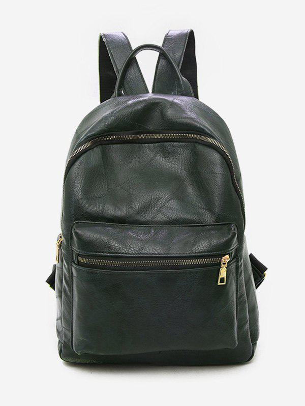 Hot Solid Color PU Leather Design Backpack