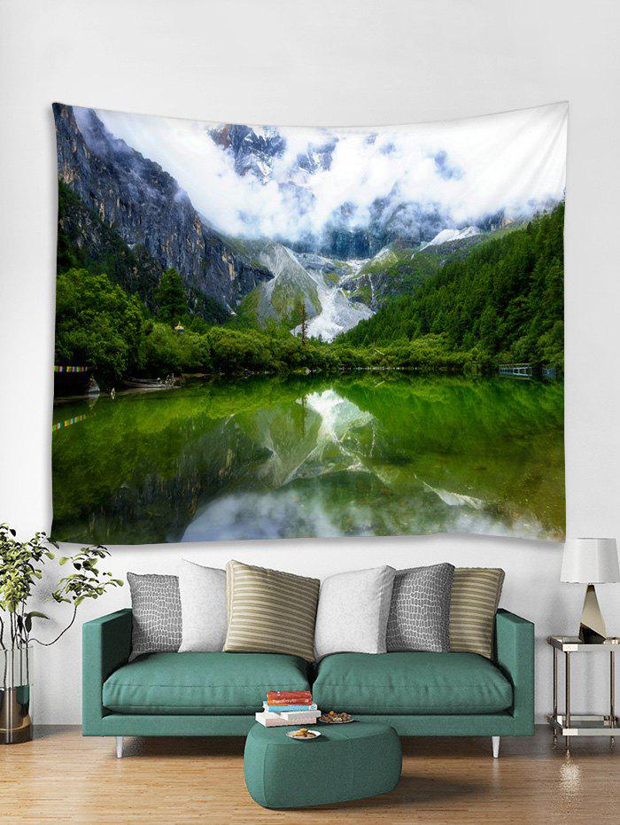 Chic Mountain Lakes Tapestry Art Decoration