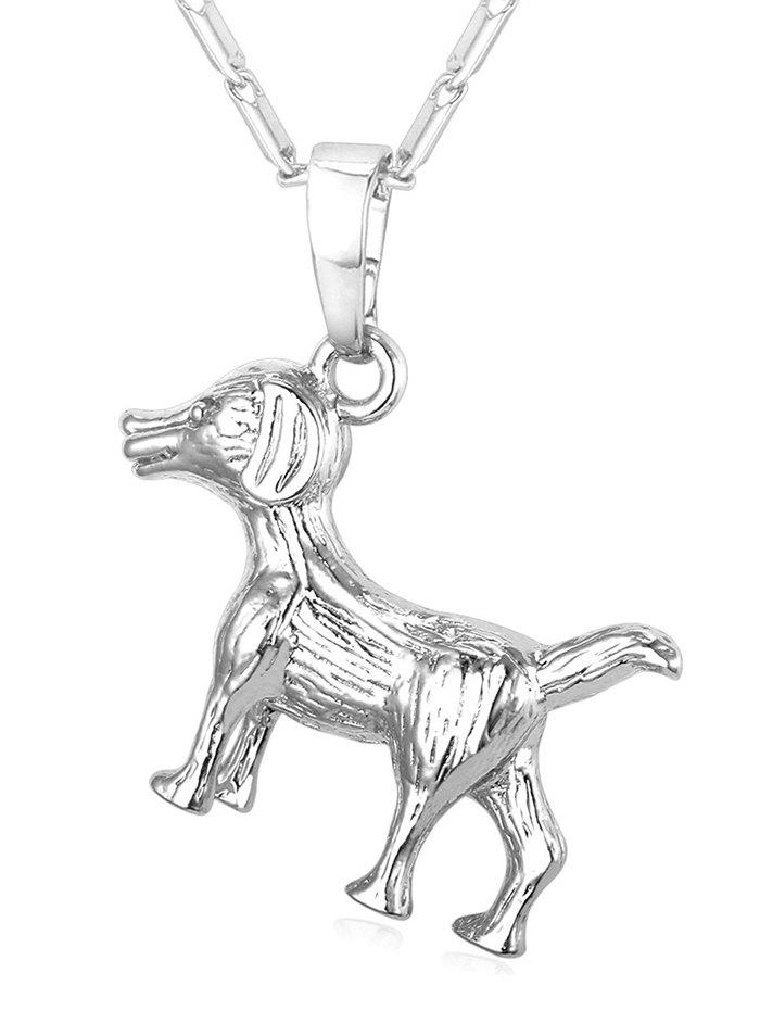 Best Carving Dog Stainless Steel Pendant Necklace