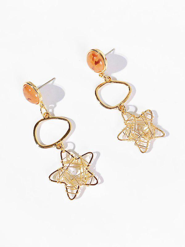 Discount Star and Artificial Crystal Hollow Earrings