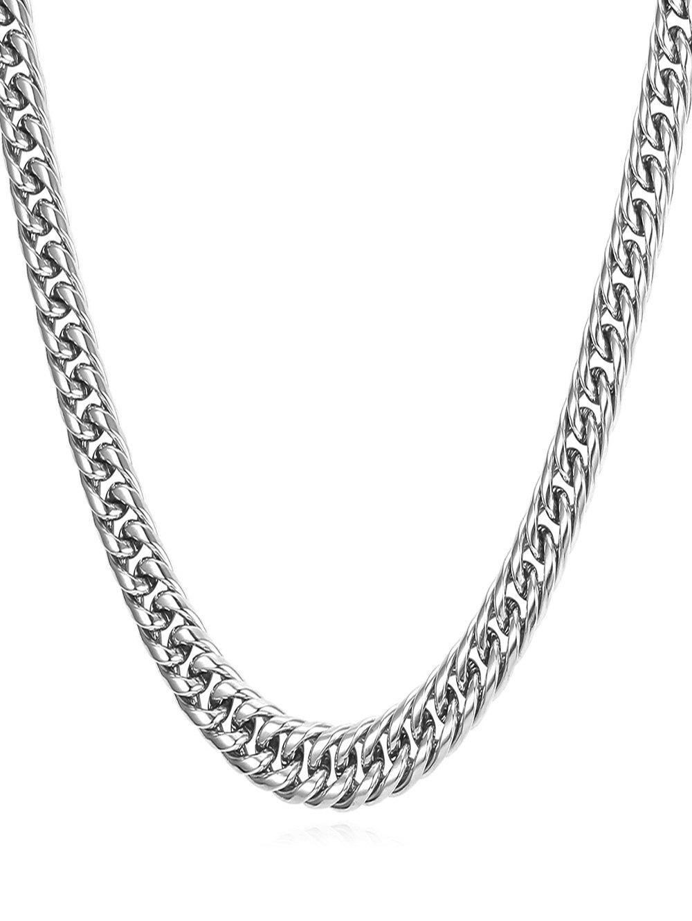 Fashion Stainless Steel Simple Design Chain Necklace