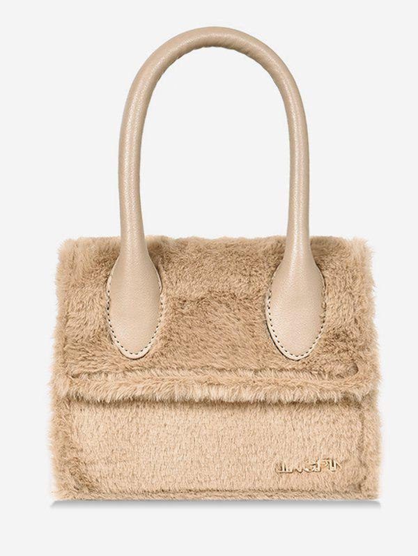 Best Fluffy Leather Letter Printed Tote Bag