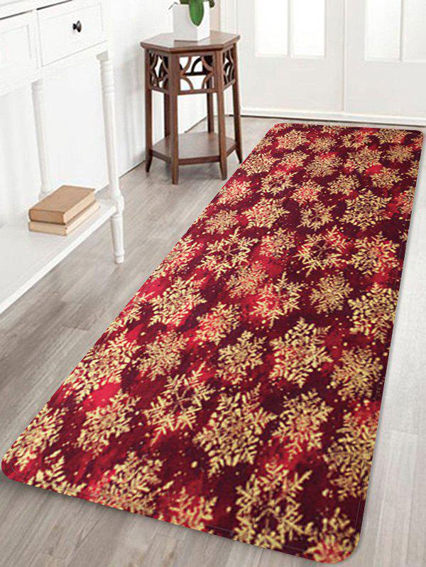Fashion Christmas Snowflake Pattern Water Absorption Floor Rug