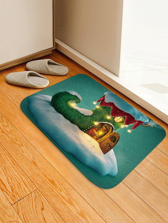 Unique Christmas Boot House Pattern Water Absorption Area Rug