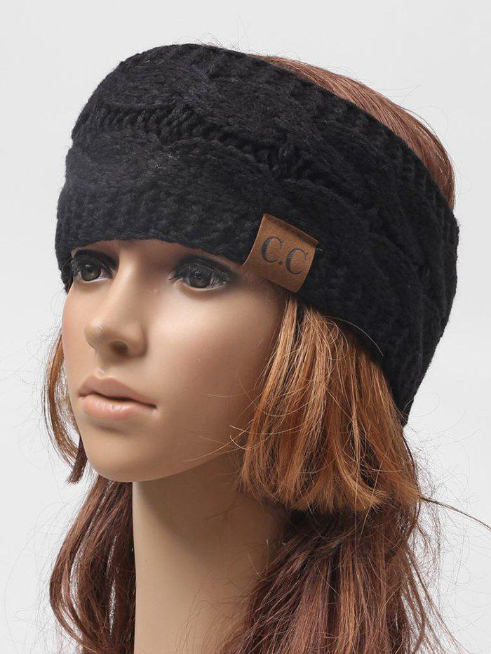 Buy Winter Knitted Letter Label Wide Headband