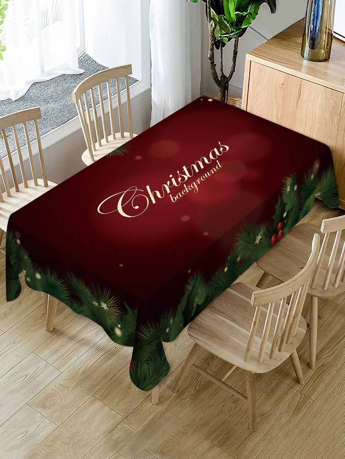 Affordable Christmas Star Leaf Fabric Waterproof Table Cloth
