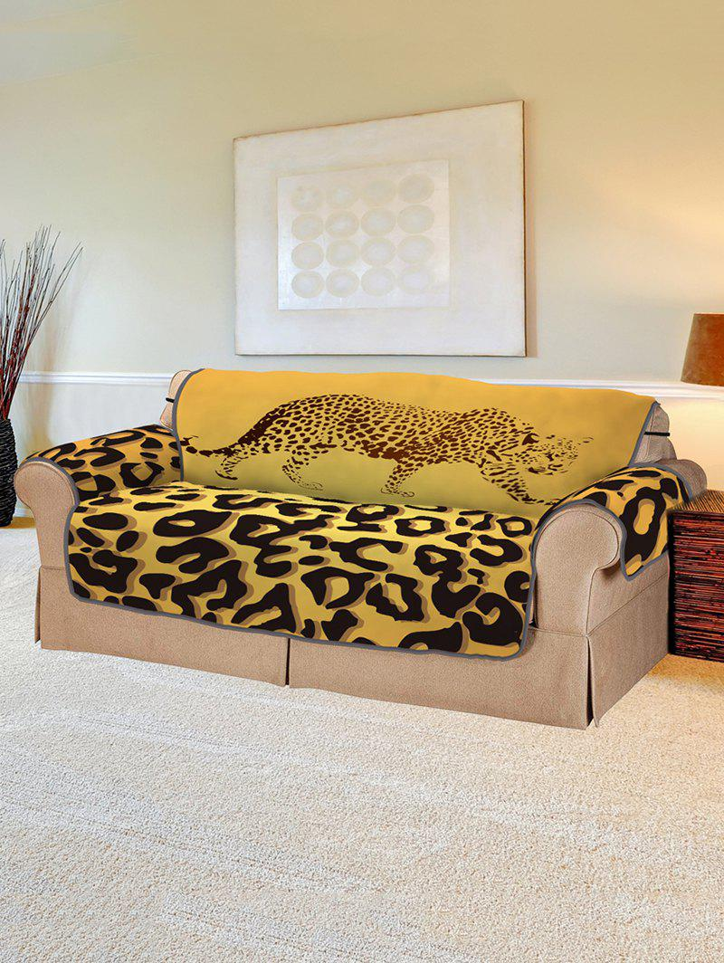 Leopard Pattern Protector Couch Cover Two Seats