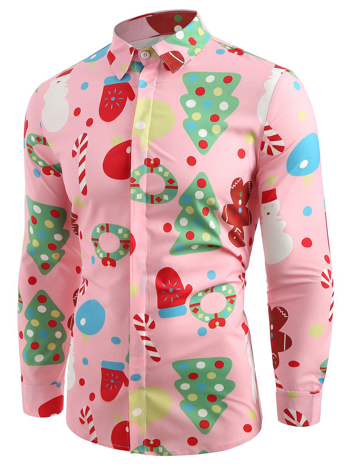Outfit Christmas Theme Button Up Shirt