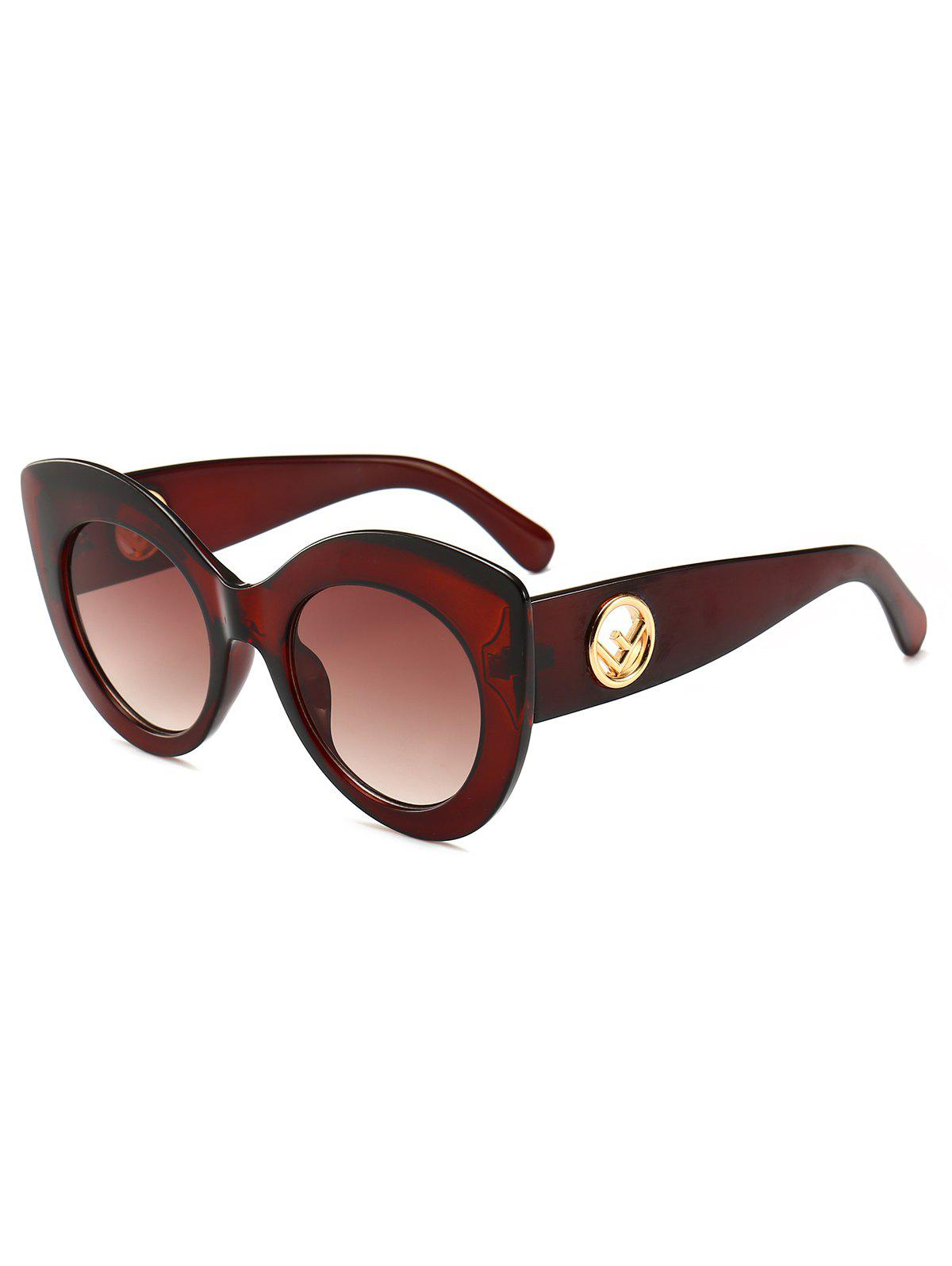 Hot Retro Plastic Frame Thick Catty Sunglasses