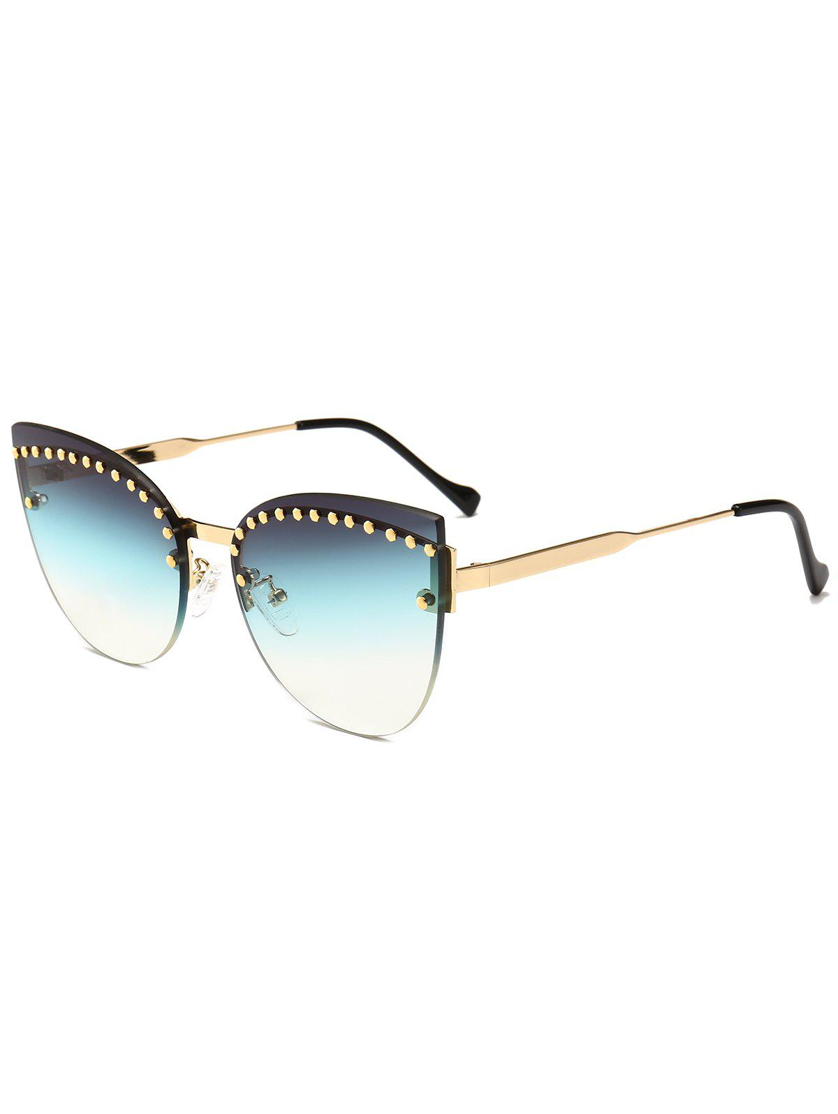 Sale Rivets Inlaid Rimless Catty Sunglasses