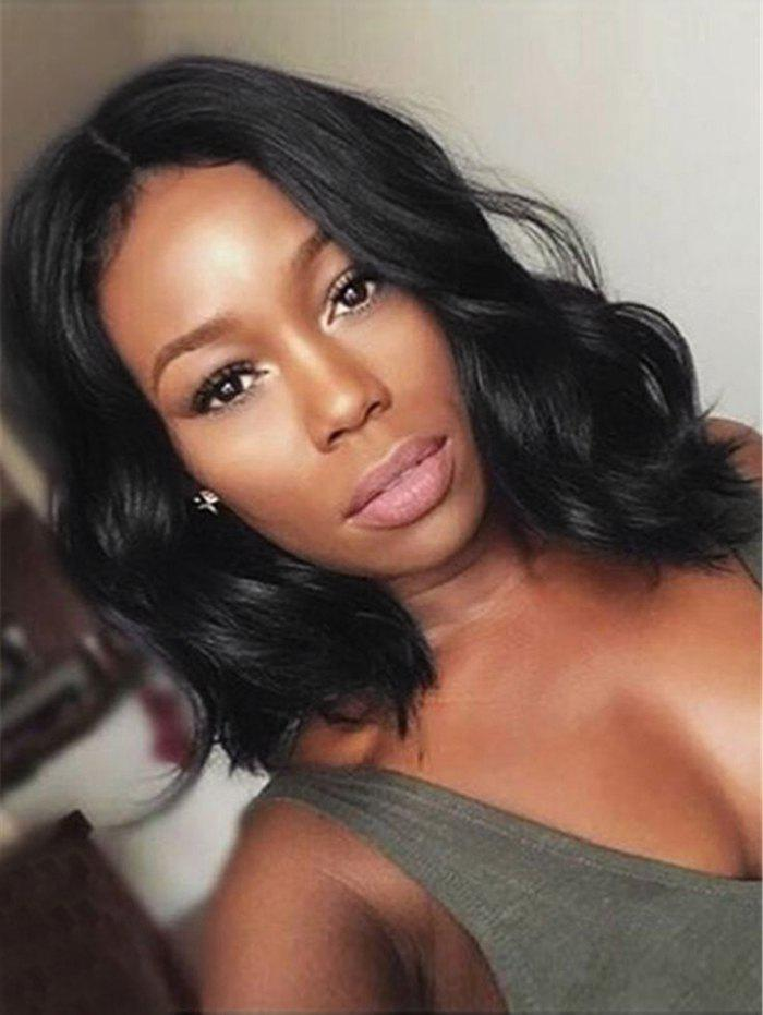 Unique Short Center Parting Body Wave Synthetic Lace Front Wig