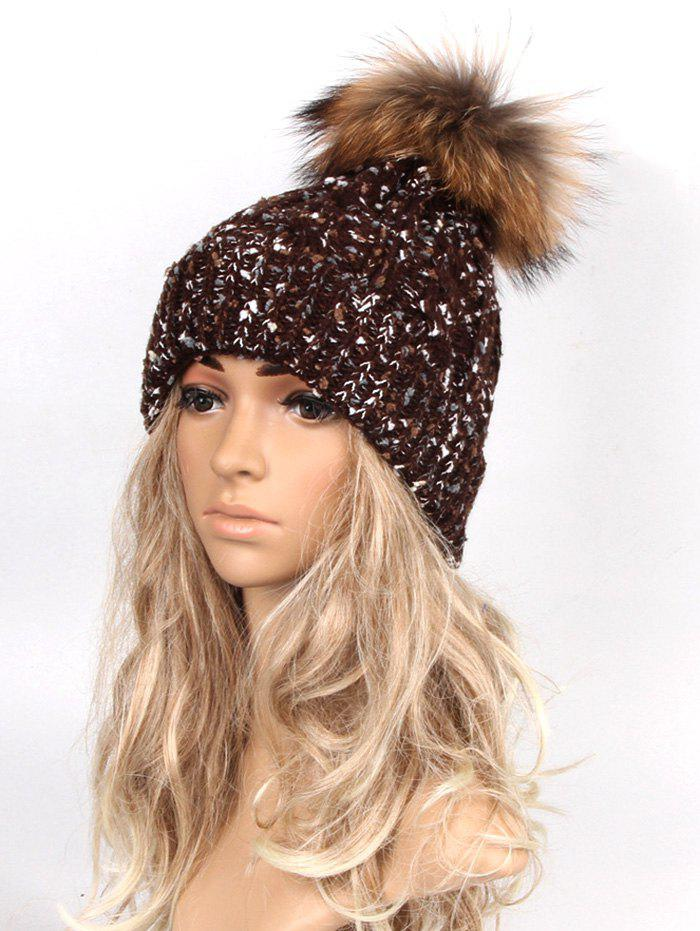 Cheap Outdoor Pom Ball Decorated Winter Knitted Beanie