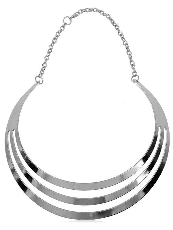 Outfits Multilayered Alloy Statement Necklace