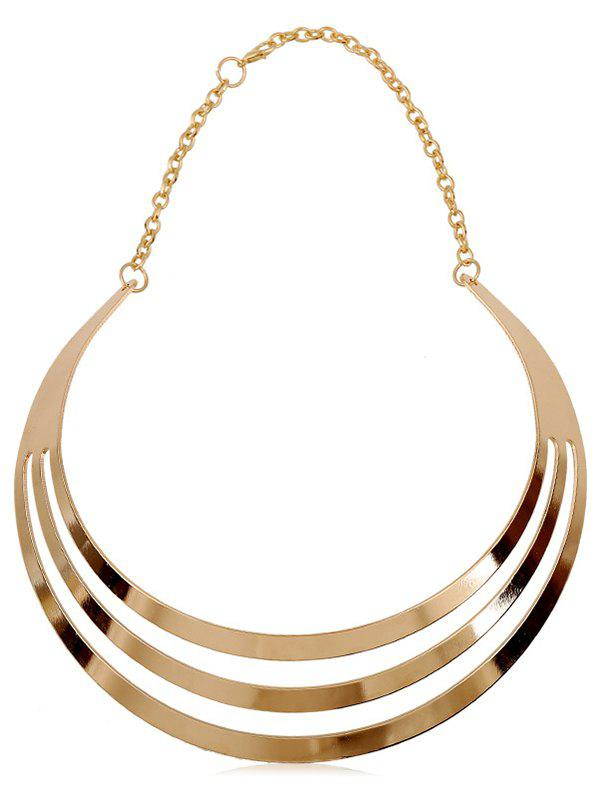 Cheap Multilayered Alloy Statement Necklace