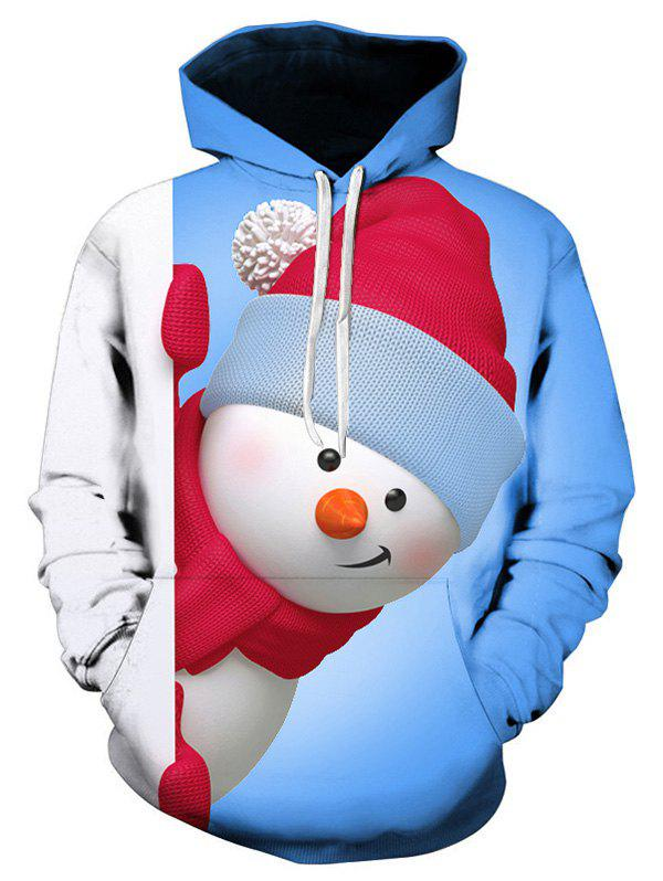 Fancy Kangaroo Pocket Snowman 3D Printed Christmas Hoodie