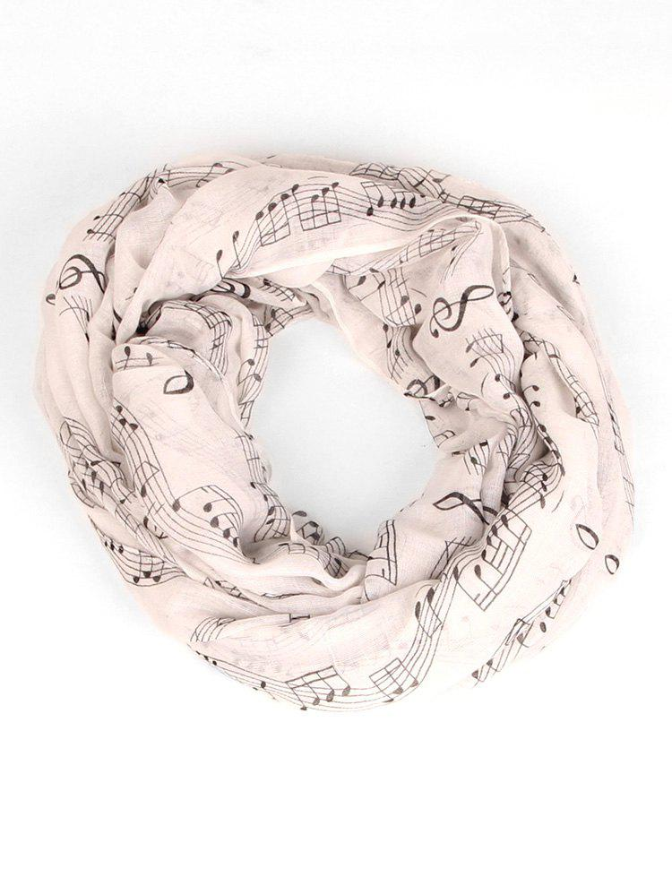 Unique Spring Music Note Pattern Warm Infinity Scarf