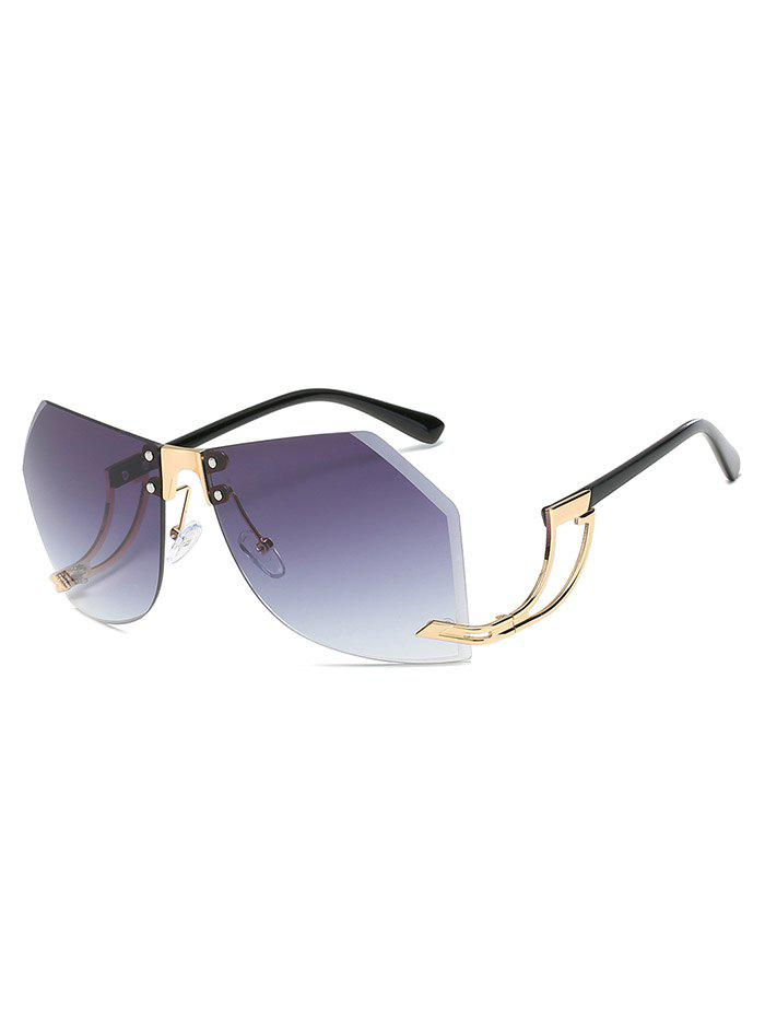 Best Novelty Bent Leg Rimless Sunglasses