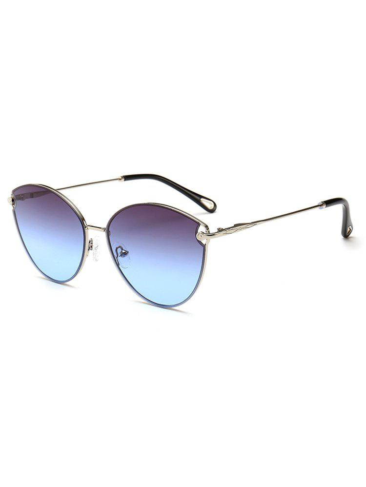 Fancy Lightweight Metal Full Frame Catty Sunglasses
