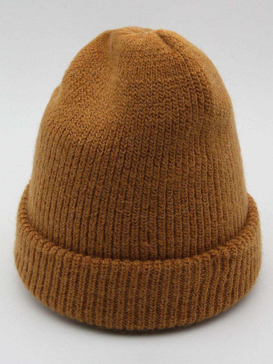 Chic Vintage Solid Color Flanging Ski Beanie