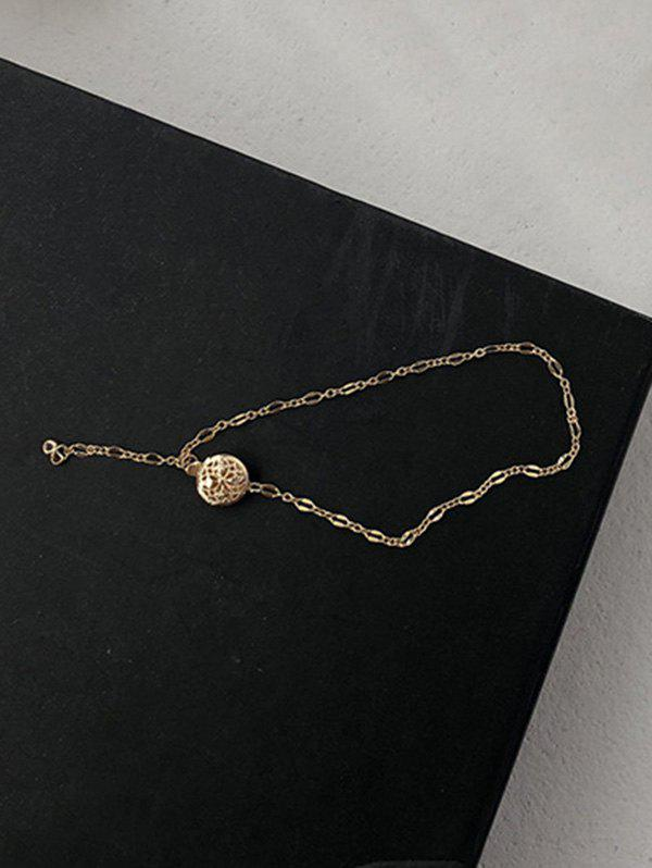 Cheap Minimalist Hollow Out Round Chain Bracelet