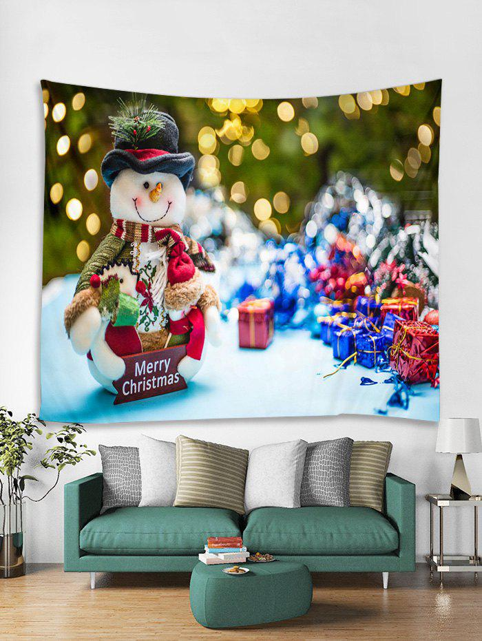 Trendy Merry Christmas Gift Snowman Pattern Tapestry Art Decoration